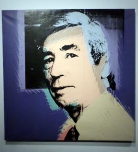 Portrait d'Hergé par Warhol